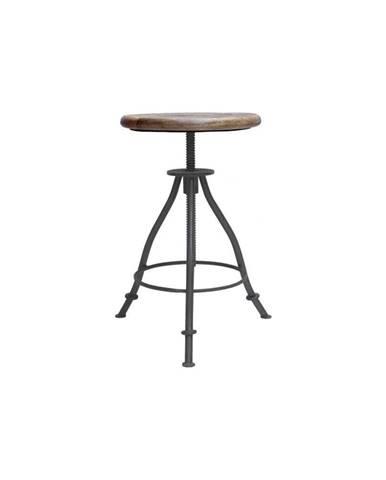 Sivá stolička so sedákom z mangového dreva LABEL51 Jaipur