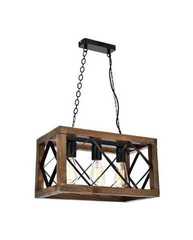 Závesné svietidlo z hrabového dreva Zikzak Rusti