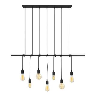 Čierne kovové závesné svietidlo Opviq lights Vincent