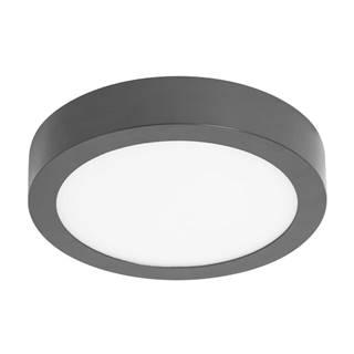 Sivé kruhové stropné svietidlo SULION, ø30 cm
