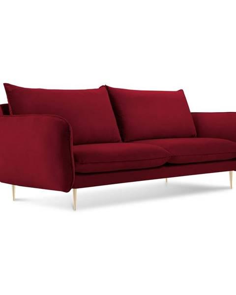 Cosmopolitan Design Červená pohovka so zamatovým poťahom Cosmopolitan Design Florence,160 cm