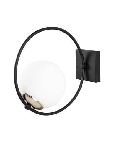 Čierne kovové nástenné svietidlo Opviq lights Aria