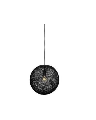 Čierne stropné svietidlo LABEL51 Twist, ⌀45 cm