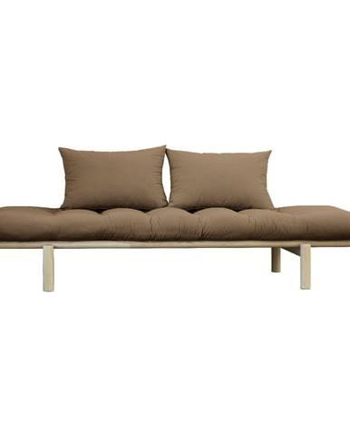 Pohovka s hnedým poťahom Karup Design Pace Natural/Mocca