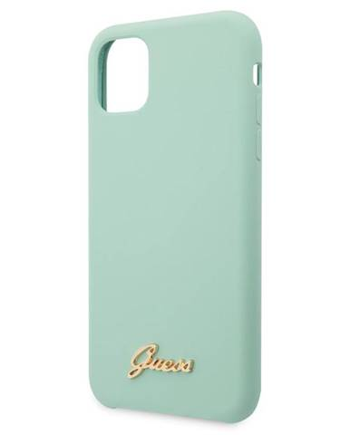 Kryt na mobil Guess Silicone Vintage na iPhone 11 Pro zelený