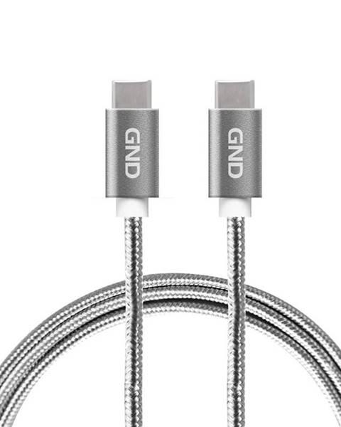 GND Kábel GND USB-C / USB-C 3.1, PD, 2m, opletený sivý