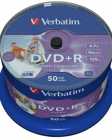 Disk Verbatim Printable DVD+R 4,7GB, 16x, 50cake