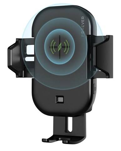 Držiak na mobil Forever Core s bezdrátovým nabíjením čierny
