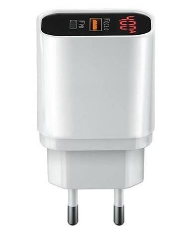 Nabíjačka do siete Forever Core 1x USB QC 3.0, 1x USB-C PD, 20W s