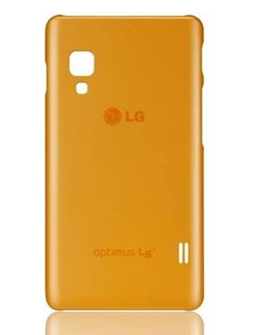 Kryt na mobil LG Silicon Case na L5 II oranžový