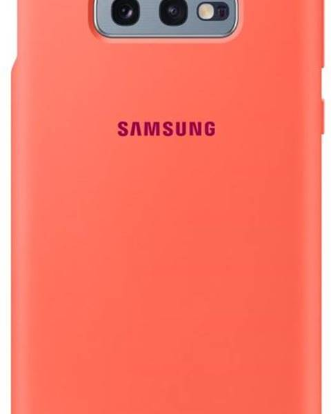 Samsung Kryt na mobil Samsung Silicon Cover na Galaxy S10e - Berry Pink