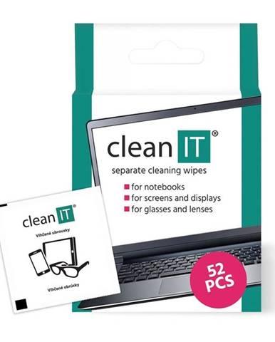Čistiace obrúsky Clean IT vlhčené, 52 ks