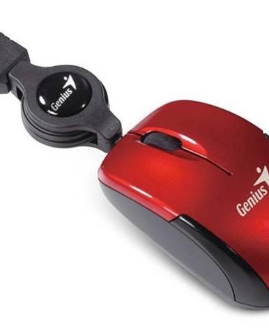 Myš  Genius Micro Traveler V2 červená / optická / 3 tlačítka /