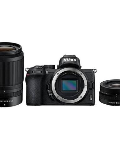 Digitálny fotoaparát Nikon Z50 + 16-50 VR + 50-250 VR čierny