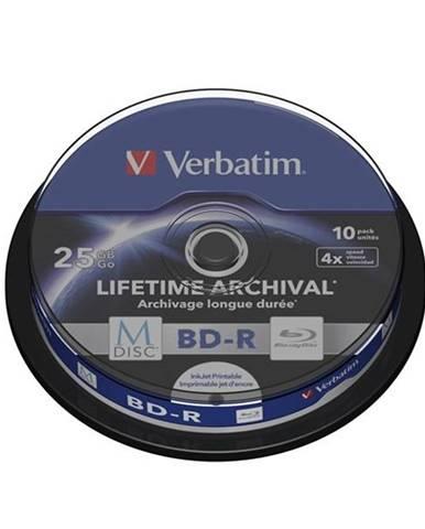 Disk Verbatim Printable BD-R M-Disc 25GB, 4x, 10-cake
