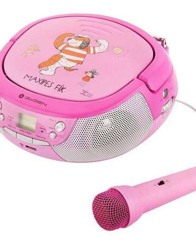 Rádioprijímač s CD Gogen Maxipes Fík Maxiprehravac P ružový/fialov