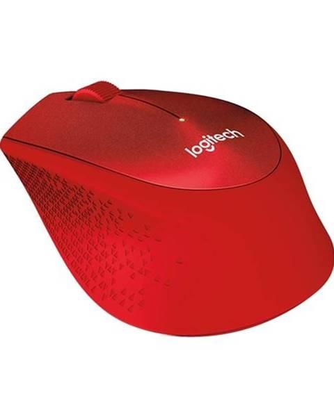 Logitech Myš  Logitech Wireless MoM330 Silent Plus červená / optická / 3