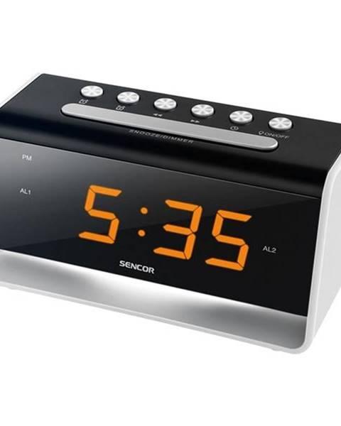 Sencor Budík Sencor SDC 4400W čierny/strieborný
