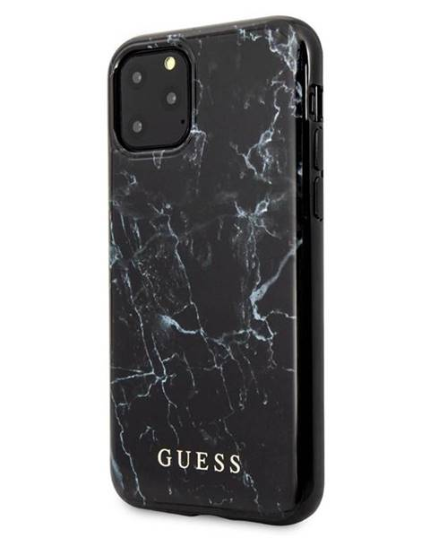 Guess Kryt na mobil Guess Marble Design na iPhone 11 Pro Max čierny