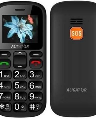 Mobilný telefón Aligator A321 Senior Dual SIM čierny/sivý