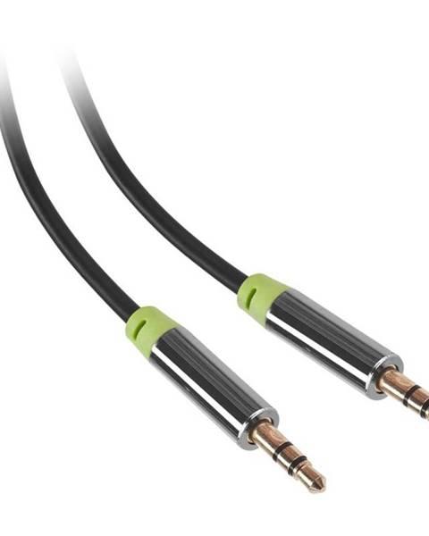 GoGEN Kábel Gogen Jack 3,5mm, 5m, pozlacené konektory čierny