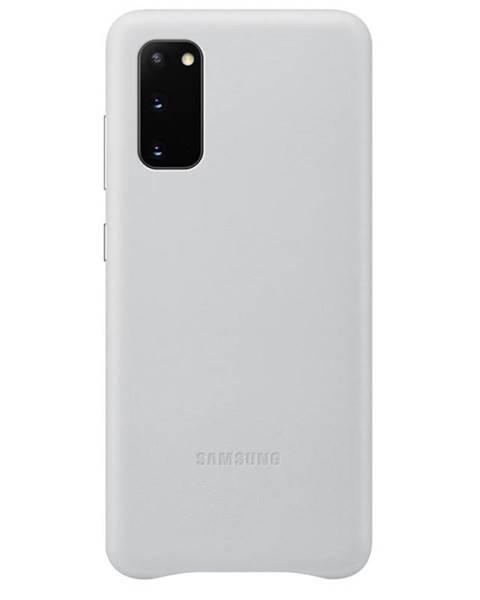 Samsung Kryt na mobil Samsung Leather Cover na Galaxy S20 sivý