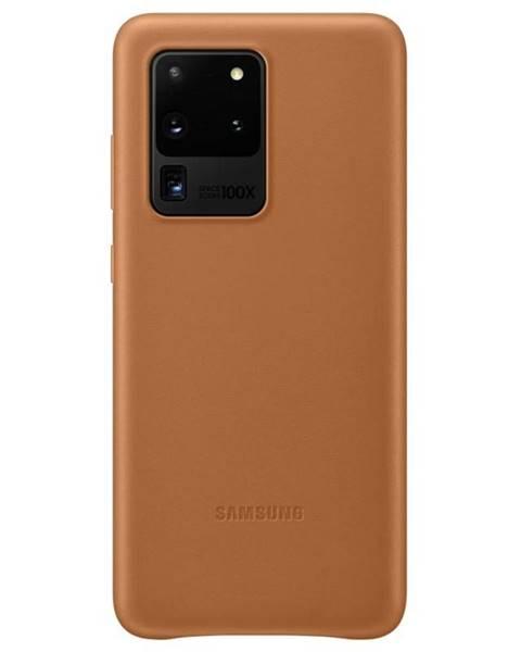 Samsung Kryt na mobil Samsung Leather Cover na Galaxy S20 Ultra hnedý
