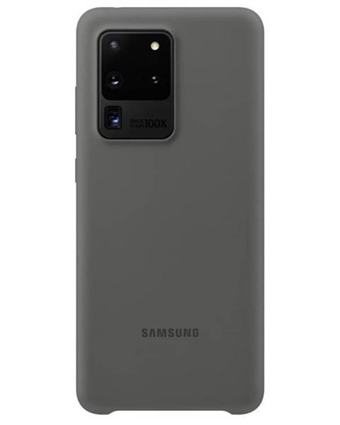 Samsung Kryt na mobil Samsung Silicon Cover na Galaxy S20 Ultra sivý