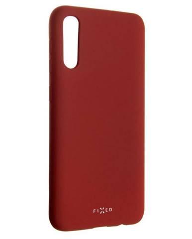 Kryt na mobil Fixed Story na Samsung Galaxy A50 červený