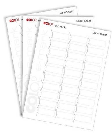 Papierový štítok Colop e-mark® 48 x 18 mm, 10 x A4