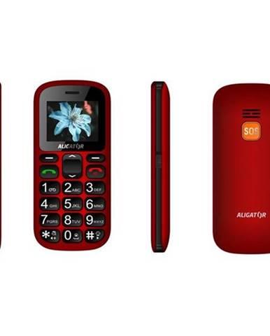 Mobilný telefón Aligator A321 Senior Dual SIM čierny/červený