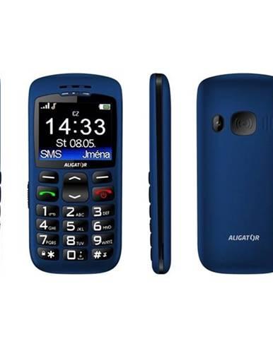 Mobilný telefón Aligator A670 Senior modrý