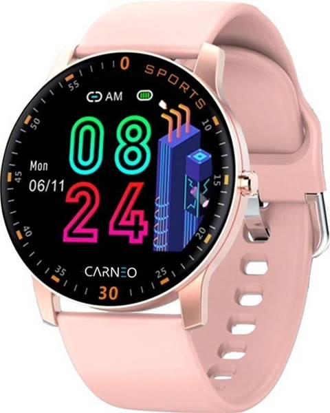 Carneo Inteligentné hodinky Carneo Gear+ platinum woman ružová