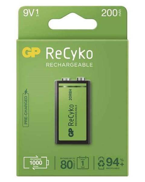 GP Batéria nabíjacie GP ReCyko, 9V, 200mAh, NiMH, krabička 1ks