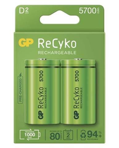 Batéria nabíjacie GP ReCyko, HR20, D, 5700mAh, NiMH, krabička 2ks