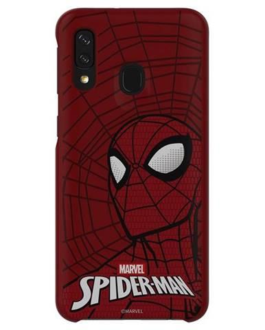 Kryt na mobil Samsung Smart Cover Spider-Man na Galaxy A40 červený
