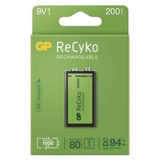 Batéria nabíjacie GP ReCyko, 9V, 200mAh, NiMH, krabička 1ks