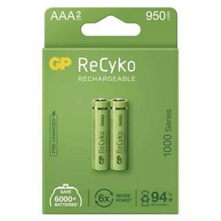 Batéria nabíjacie GP ReCyko, HR03, AAA, 950mAh, NiMH, krabička 2ks