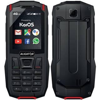 Mobilný telefón Aligator K50 eXtremo čierny/červený