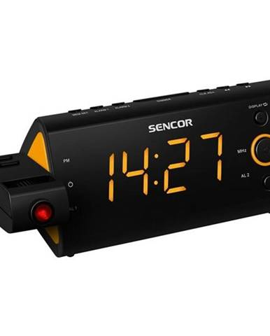 Rádiobudík Sencor SRC 330 OR čierny/oranžov