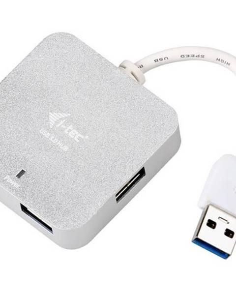 i-tec USB Hub i-tec USB 3.0 / 4x USB 3.0 strieborný