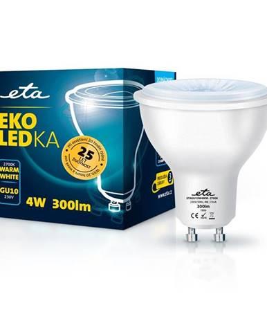 LED žiarovka ETA EKO LEDka bodová 4W, GU10, teplá biela