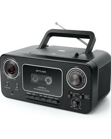 Rádiomagnetofón s CD MM-182RDC čierny