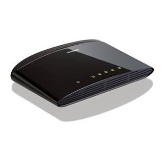 Switch D-Link DES-1005D strieborný 5 port, 10/100 Mb/s