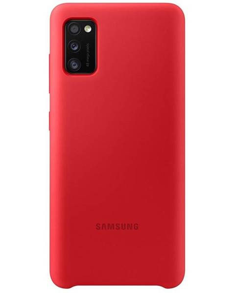 Samsung Kryt na mobil Samsung Silicon Cover na Galaxy A41 červený