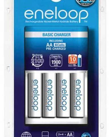 Nabíjačka Panasonic Eneloop Basic Charger pro AA, AAA + 4x
