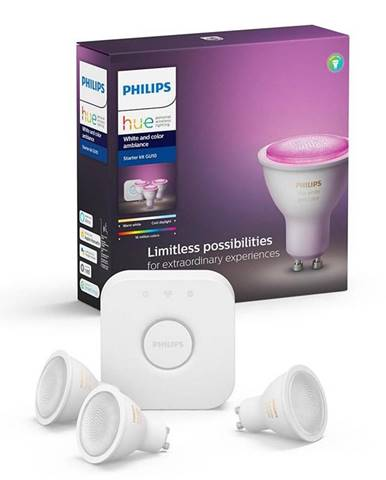 Štartovacia sada Philips Hue Bluetooth 5,7W, GU10, White and Color