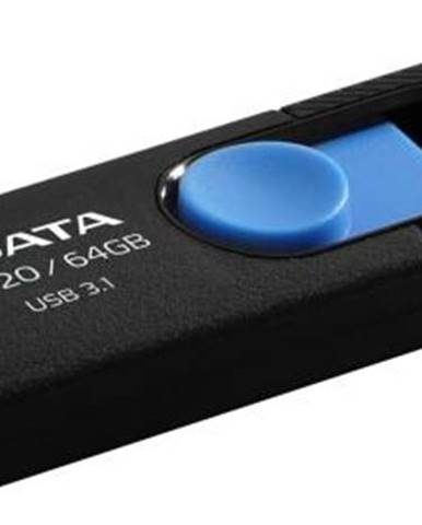 USB flash disk Adata UV320 64GB čierny/modrý