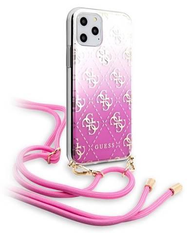 Kryt na mobil Guess 4G Gradient na Apple iPhone 11 ružový