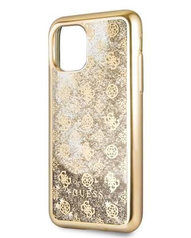 Kryt na mobil Guess 4G Peony Glitter na Apple iPhone 11 Pro zlatý